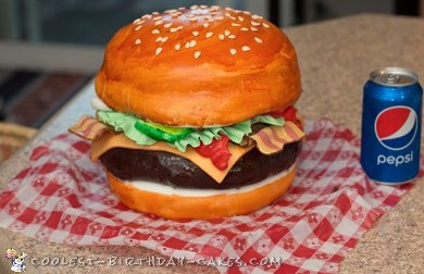 Coolest Homemade Burger Cake