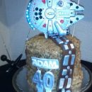Husbands 40th birthday star wars cake