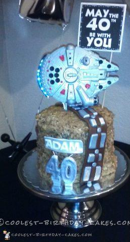 Husbands 40th birthday star wars cake