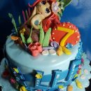 little mermaid cake topper
