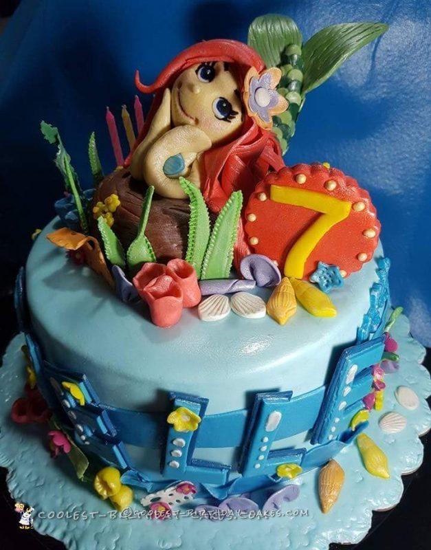 little mermaid cake topper