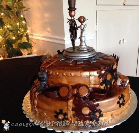 Spunky Steampunk Wedding Cake