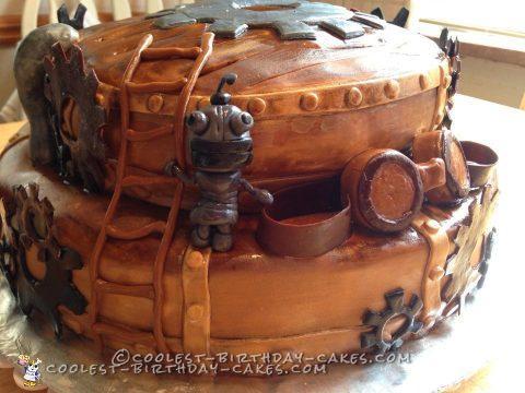 Spunky Steampunk Wedding Cake