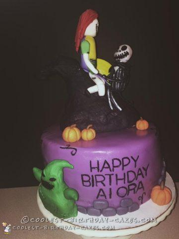 a nightmare before christmas cake