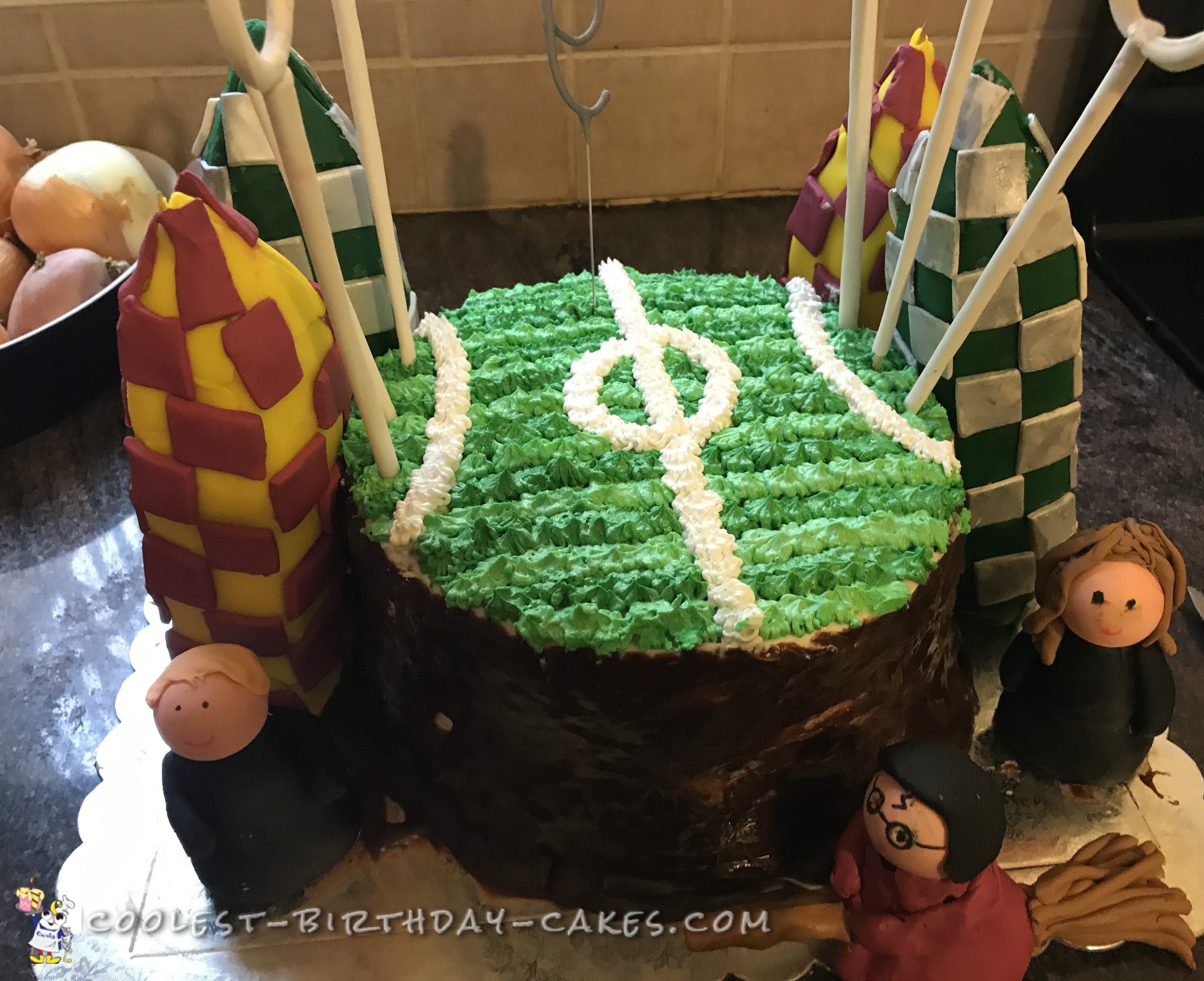 Cool Quidditch Cake With Harry Hermione And Ron