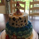 dalmatian fire truck cake