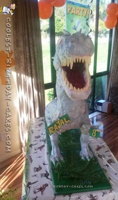 Awesome Ginormous Indominus Rex Cake For My Son