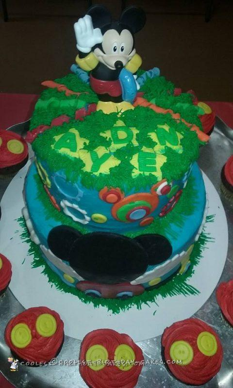 mickey mouse cake for babies 1st birthday