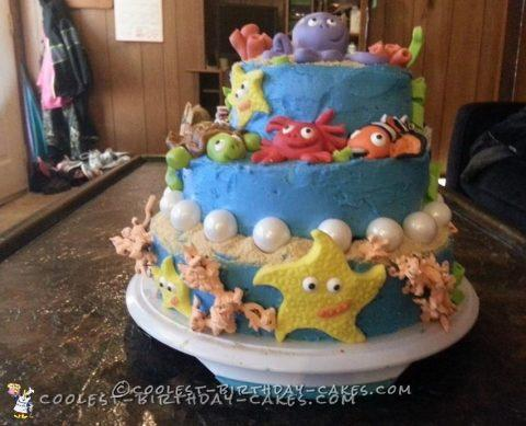 nemo cake for my daughter