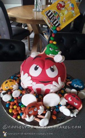 Coolest m&m cake