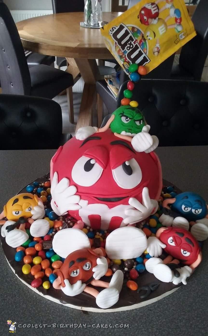 Coolest m&m cake