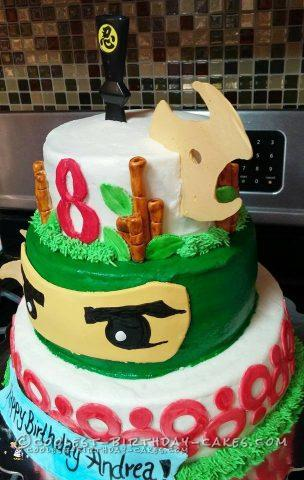 Coolest Homemade 3 Tiered Lego Ninjago Cake