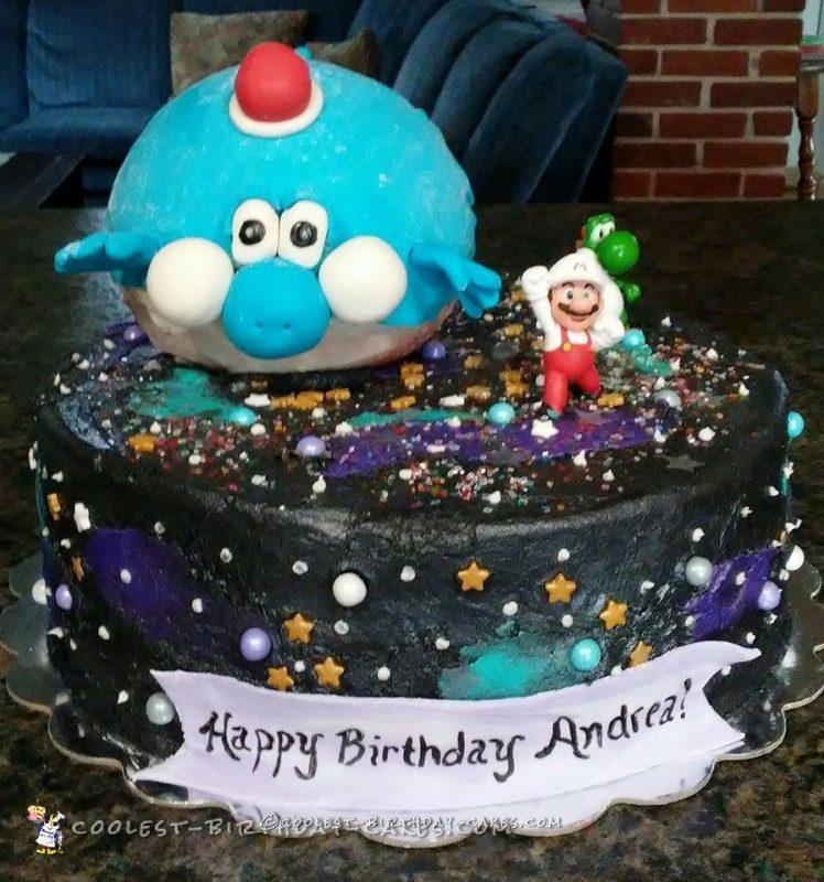 Coolest Homemade Super Mario Galaxy Cake For My Daughter