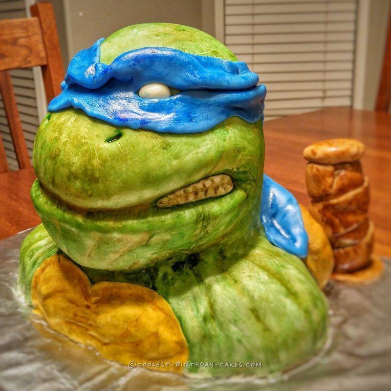 Coolest 3d TMNT Leonardo Cake