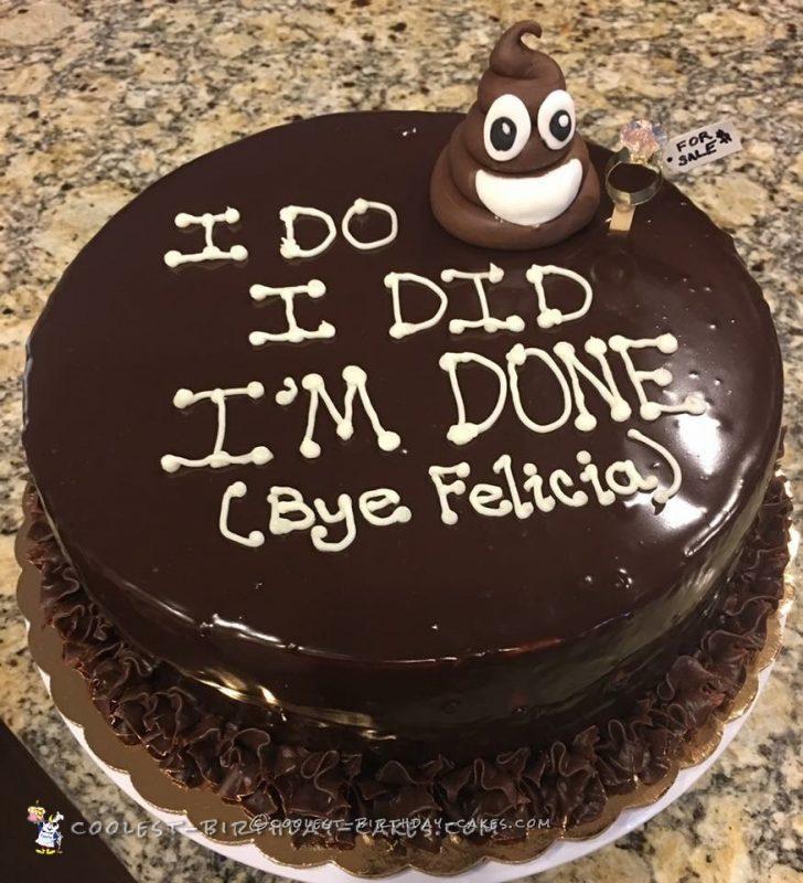Funny Divorce Cake