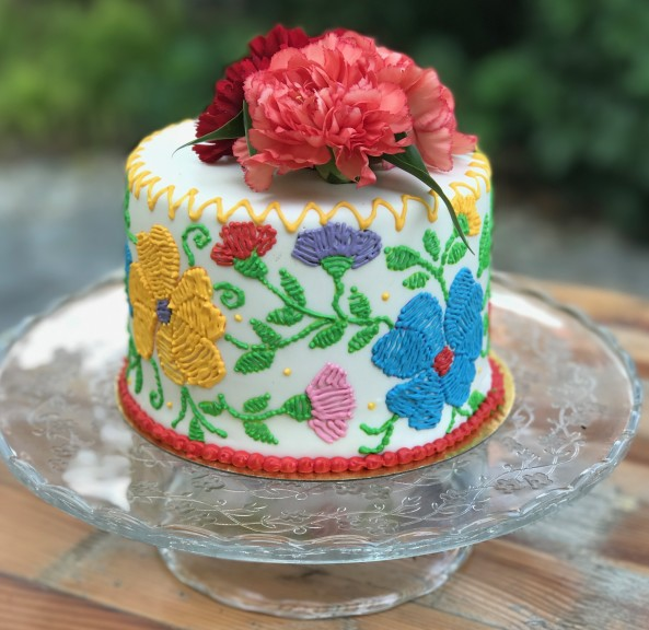 Fabulous Stunning Homemade Mexican Embroidery Cake Design Birthday Cards Printable Benkemecafe Filternl
