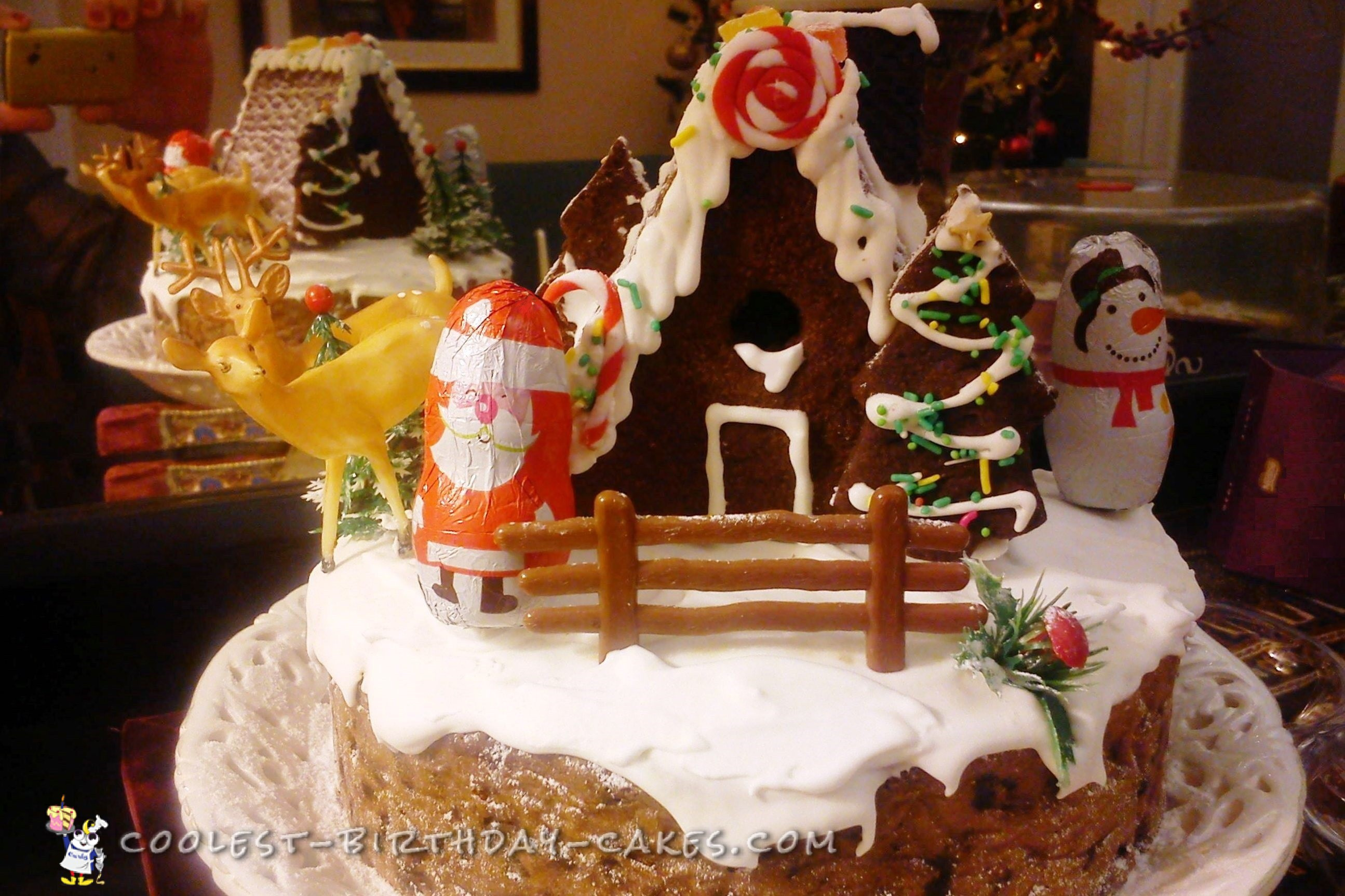 2 in 1 Christmas Cake