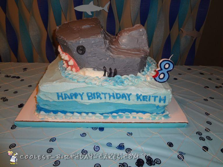 Shark Breach Cake