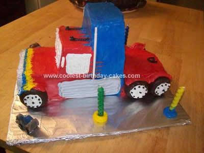 Coolest 18 Wheeler Transformers Birthday Cake