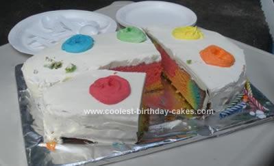 Cool Homemade Artist Palette Birthday Cake