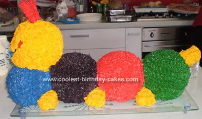 Coolest 3D Baby Einstein Caterpillar Cake