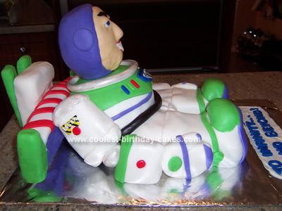 Cute Homemade 3D Buzz Lightyear Cake