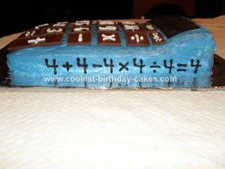 Coolest Calculator Cake