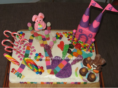 Cool Homemade Candyland Cake for my Daughter's 4th Birthday