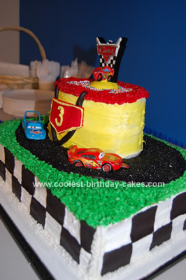 Coolest Disney CARS Race Track Cake