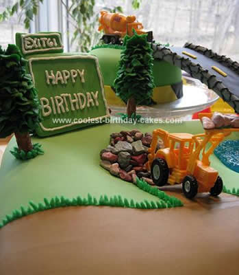 Awesome Homemade Construction Birthday Cake