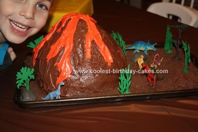 Dinosaur Land Volcano Cake