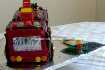 Fire Engine Birthday Cake