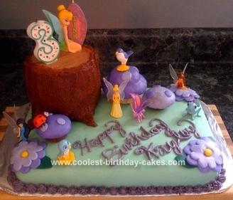 Coolest Homemade Tinkerbell Birthday Cake