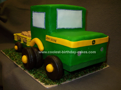 John Deere Tractor and Trailor Cake