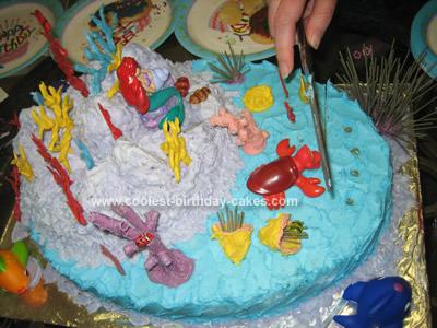 Coolest Ariel Under the Sea Birthday Cake