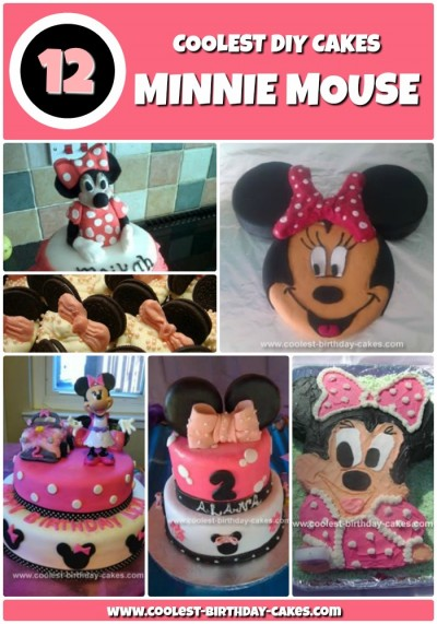Pleasant 12 Coolest Minnie Mouse Cake Ideas Coolest Birthday Cakes Personalised Birthday Cards Rectzonderlifede