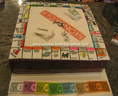 Coolest  Monopoly Board Birthday Cake