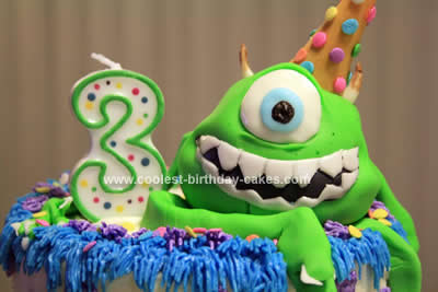 Coolest Monsters Inc. Birthday Cake