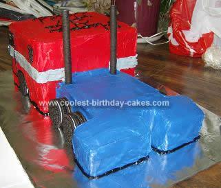 Coolest Optimus Prime Birthday Cake