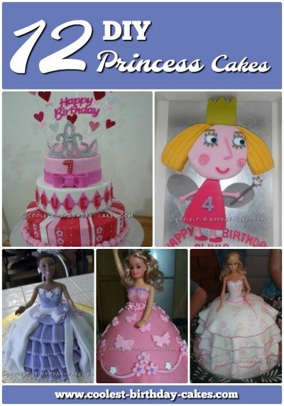 Admirable 12 Inspiring Homemade Princess Birthday Cake Ideas Funny Birthday Cards Online Elaedamsfinfo