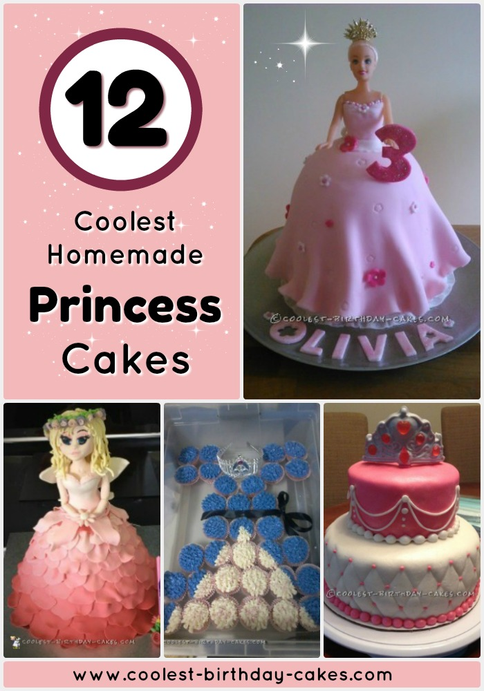 12 Pretty DIY Princess Cakes Awesome Homemade Birthday Cake Ideas