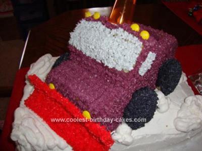 Snow Plow Truck Cake