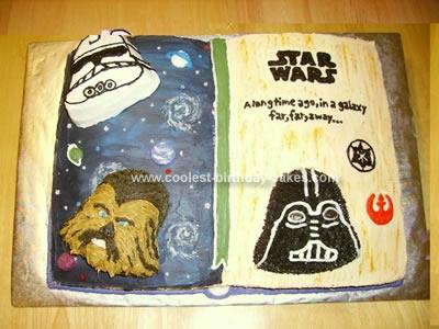 Star Wars Book Birthday Cake