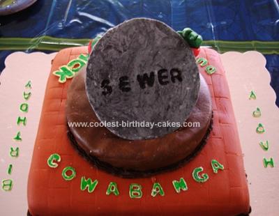 Coolest TMNT Sewer Cake