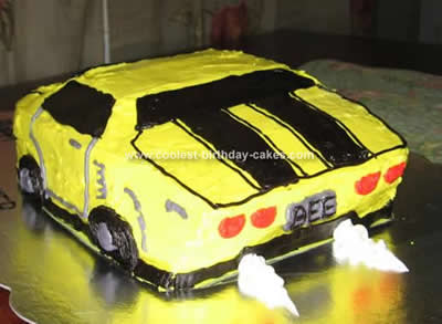 Coolest Transformers Bumblebee Camero Cake