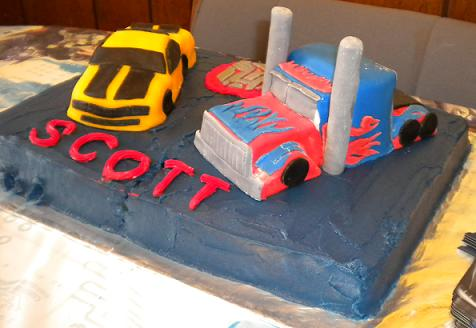 Cool Homemade Transformers Cakes