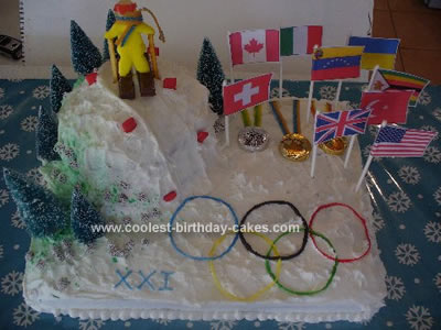 Winter Olympic Themed Cake