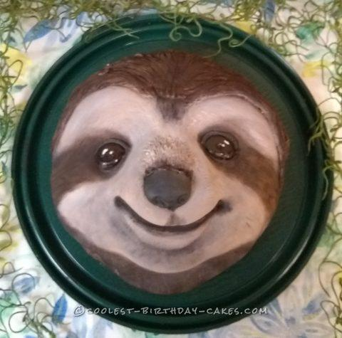 Happy Sloth Cake