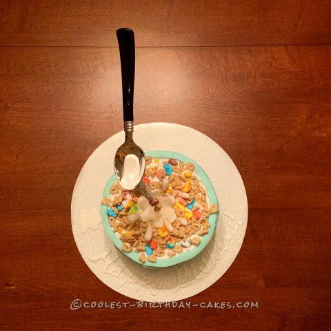 Anti-Gravity Cereal Birthday Cake!