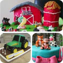 Barnyard/Farming Birthday Cakes